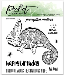 Picket Fence Studios - Charles the Chameleon Clear Stamps