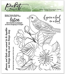 Picket Fence Studios - Beauty and Song Clear Stamps