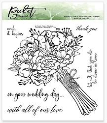 Picket Fence Studios - A Bride's Bouquet Clear Stamps