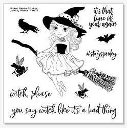 Picket Fence Studios - Witch, Please Clear Stamps
