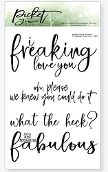 Picket Fence Studios - I Freaking Love You Clear Stamps