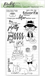 Picket Fence Studios - Pretty Kitties Clear Stamps