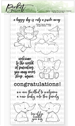 Picket Fence Studios - Jungle Babies Clear Stamps