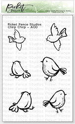 Picket Fence Studios - Chirp Chirp Clear Stamps