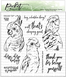Picket Fence Studios - Pretty Birds Clear Stamps