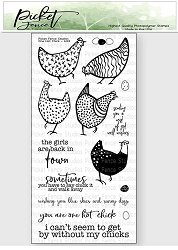 Picket Fence Studios - One Hot Chick Clear Stamps
