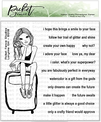 Picket Fence Studios - Lorynne Girl Clear Stamps