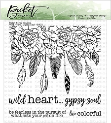 Picket Fence Studios - Wild Heart Gypsy Soul Clear Stamps