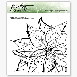 Picket Fence Studios - Poinsettia Star Clear Stamps