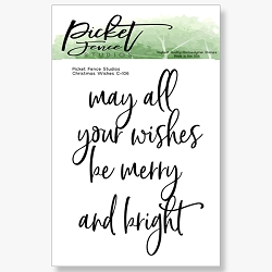 Picket Fence Studios - Christmas Wishes Clear Stamps