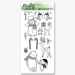 Picket Fence Studios - On A Christmas Walk Clear Stamps