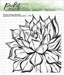 Picket Fence Studios - Aeonium African Succulent Clear Stamps