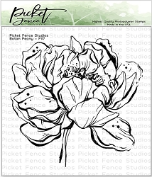 Picket Fence Studios - Botan Peony Clear Stamps