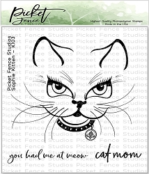Picket Fence Studios - Sophie Kitten Clear Stamps