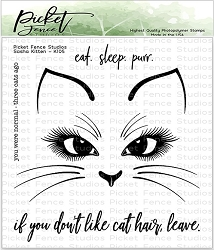 Picket Fence Studios - Sasha Kitten Clear Stamps