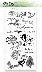 Picket Fence Studios - Schools of Fish Clear Stamps