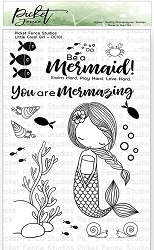 Picket Fence Studios - Little Coral Girl Clear Stamps