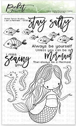 Picket Fence Studios - I Am A Mermaid Clear Stamps