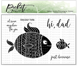 Picket Fence Studios - Fishy Kisses Clear Stamps