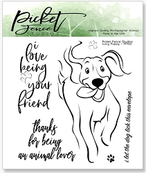 Picket Fence Studios - Lucy Puppy Clear Stamps
