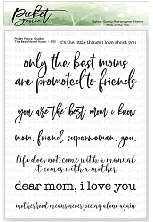 Picket Fence Studios - The Best Mom I Know Clear Stamps