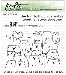 Picket Fence Studios - Bear Family Clear Stamps