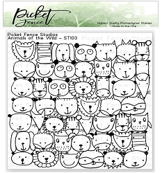 Picket Fence Studios - Animals Of The Wild Clear Stamps