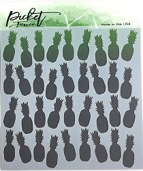 Picket Fence Studios - Pineapple Collage Stencil