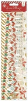 Pink Paislee - Snow Village Collection - 8 pack - Vellum Borders - Pennants