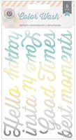 Pink Paislee - Color Wash Collection - Title Chip Stickers