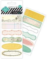 Pink Paislee - Heidi Swapp - Vintage Chic Collection - Mini File Tab Stickers