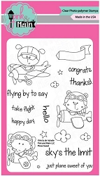 Pink & Main - Clear Stamp - Plane Sweet
