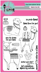 Pink & Main - Clear Stamp - Llamas