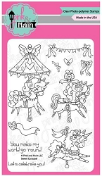 Pink & Main - Clear Stamp - Sweet Carousel