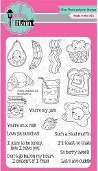 Pink & Main - Clear Stamp - Breakfast Fun
