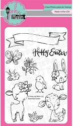 Pink & Main - Clear Stamp - Sketched Easter