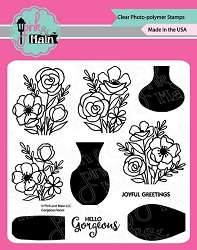 Pink & Main - Clear Stamp - Gorgeous Vases