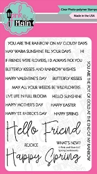 Pink & Main - Clear Stamp - Spring Sentiments