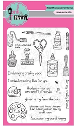 Pink & Main - Clear Stamp - Crafty