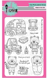 Pink & Main - Clear Stamp - Happy Camper