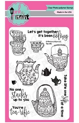 Pink & Main - Clear Stamp - Tea-rific