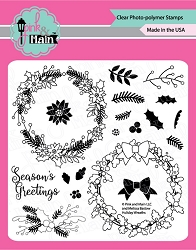 Pink & Main - Clear Stamp - Holiday Wreaths