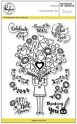 Pink Fresh Studio - Clear Stamps - Bouquet of Hearts