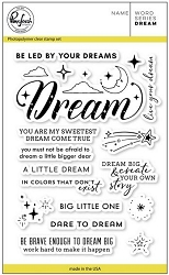 Pink Fresh Studio - Clear Stamps - Word Series:  Dream