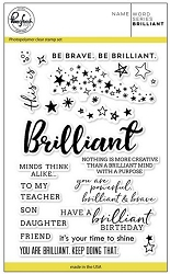 Pink Fresh Studio - Clear Stamps - Word Series:  Brilliant