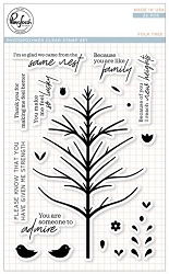 Pink Fresh Studio - Clear Stamps - Folk Tree