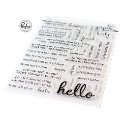 Pinkfresh Studio - Simply Sentiments Hello Clear Stamps