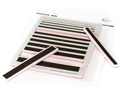 Pinkfresh Studio - Color Block: Gradiating Stripes Cling rubber stamp