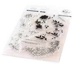 Pinkfresh Studio - Charming Floral Wreath Clear Stamps