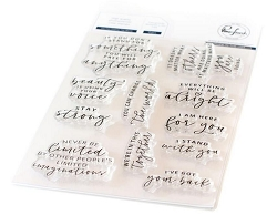 Pinkfresh Studio - You Can Change The World Clear Stamps